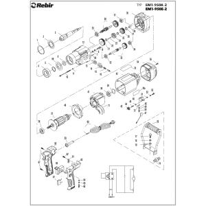 Przełącznik biegów mieszarki 950E2, 950K2