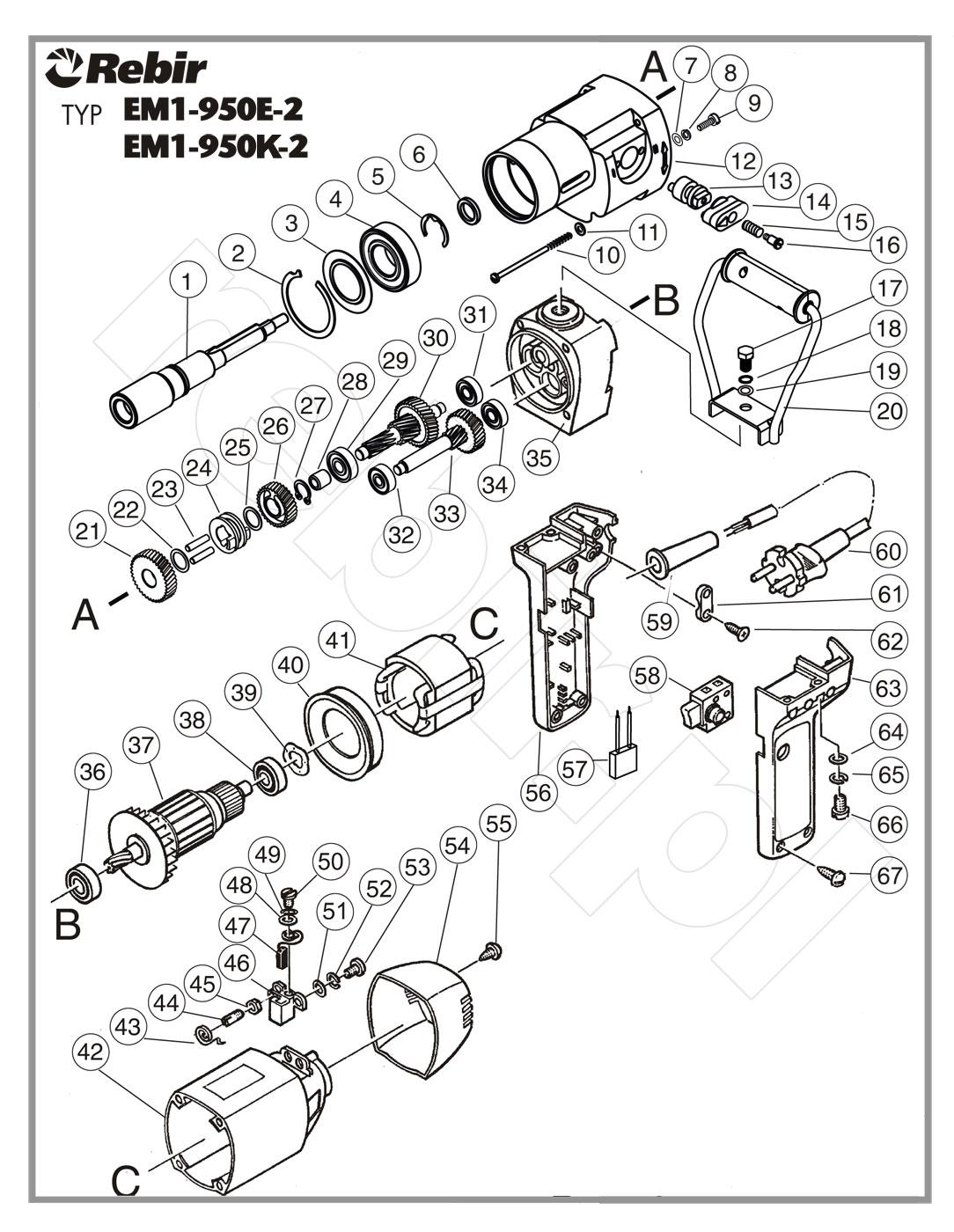 Schemat naprawczy mieszarki EM1-950 K-2
