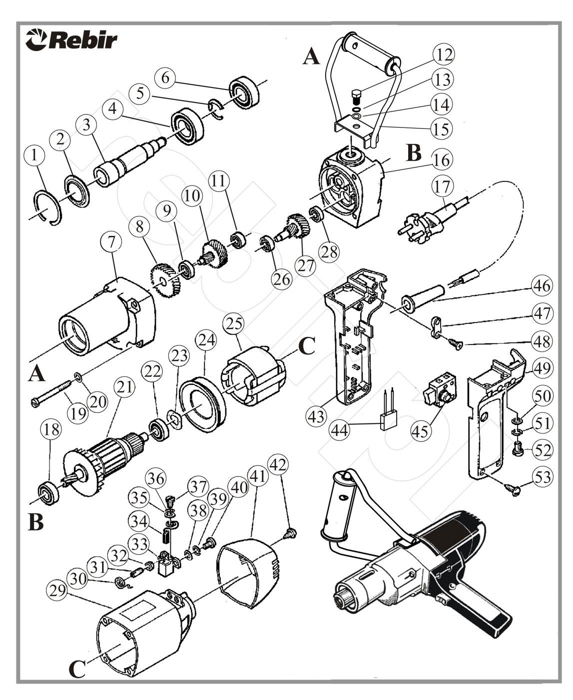 Rysunek techniczny mieszarki EM1-950